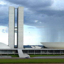 Oscar Niermeyer - Brazilian National Congress, Brasilia, Brazil