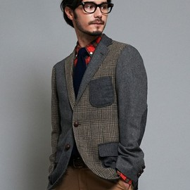 green label relaxing - crazy pattern tweed jacket