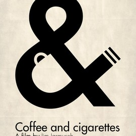 nice coffee and cigarettes poster. Great use of negative space.