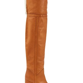 CELINE - Manon Wedge thigh boots