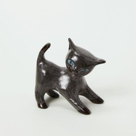 Dorothy Clough /  Upsala Ekeby:sweden - cat  black