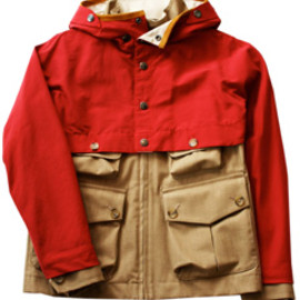 ANALOG LIGHTING - Safari Mountain Parka  (red NYLON/beige)