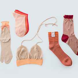 babaco - bra & socks  orange