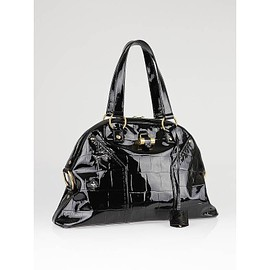 Yves Saint Laurent - Black Patent Leather Large Muse Bag