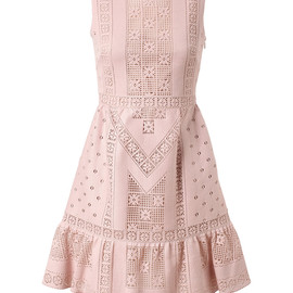 VALENTINO - CROCHETED GUIPURE LACE DRESS