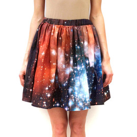 shadowplaynyc - Crimson Galaxy Starcluster Skirt