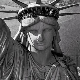 Margaret Bourke-White - Statue of Liberty, New York, NY 1952