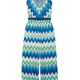 Missoni - Mare fringed crochet-knit halterneck jumpsuit