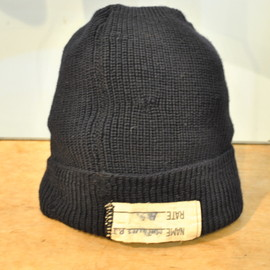 U.S.NAVAL CLOTHING FACTORY - U.S.NAVY 40's VINTAGE WATCH CAP
