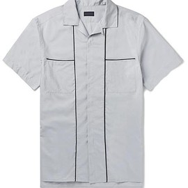 Lanvin - Camp-Collar Piped Cotton and Silk-Blend Shirt