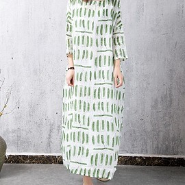 Floor Length Dress - Green Linen Dress, maxi Dress summer, Oversize Linen Dress, Prom Dress, Floor Length Dress