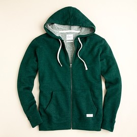 J.Crew - Saturdays fleece full-zip hooded sweatshirt