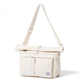 "HEAD PORTER - ""BANFF"" SHOULDER BAG (L) OFF WHITE"