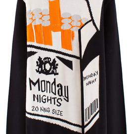 """CHRISTOPHER SHANNON - KNIT SWEATER """"MONDAY NIGHTS"""""""