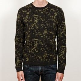 "CHAUNCEY - Cashmere ""marble"" jacquard crew neck sweater"