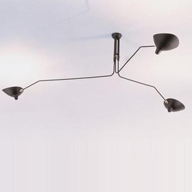 THREE-LIGHT CEILING LIGHT, CIRCA 1955