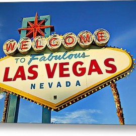 Fine Art America - Welcome To Las Vegas Sign Acrylic Print By Garry Gay