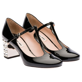 miu miu - Patent leather Mary Jane pump