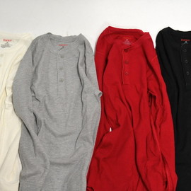 Hanes - Thermal Henley Tops