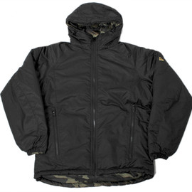 New Era - Hooded Puff Jacket - Black/Woodland Camo