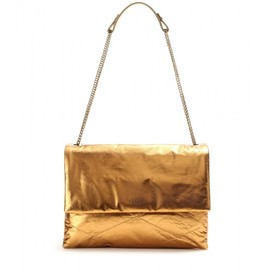 LANVIN - Sugar Medium metallic leather shoulder bag