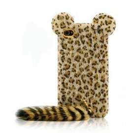 iPhone 5 Cases - Funny Leopard Print iPhone 5 Cases with Panther Tail