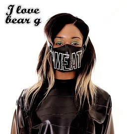 Meat clothing - I<3BEARG MEAT MUZZLE (black)