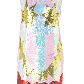 TOPSHOP - Flash Face Sequin Dress By Louise Gray