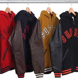 Supreme - Hooded Varsity Jacket
