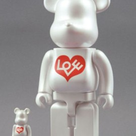 MEDICOM TOY - Alexander Girard Love Heart Be@rbrick 400% & 100%