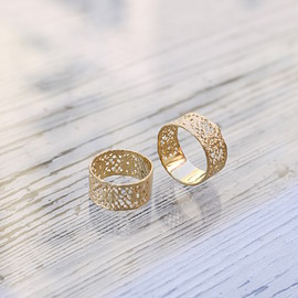 MAISON RUBUS - Lace Ring Yellow Gold