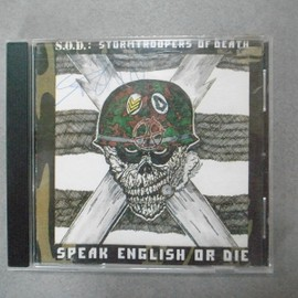 "S.O.D. - S.O.D. SPEAK ENGLISH OR DIE /  ""SCOTT IAN"" Signed"