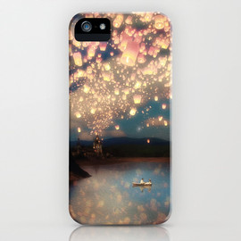 Winter Lights iPhone Case - Love Wish Lanterns by Belle13