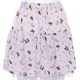 Candy stripper - MOONLIT NIGHT CATS SKIRT