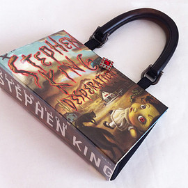 NovelCreations - Recycled book purse - Stephen King, Desolation