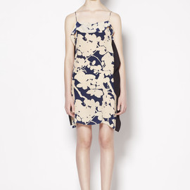3.1 Phillip Lim - SPAGHETTI STRAP DRESS WITH COMBO FLAT BACK PANEL