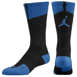 JORDAN - AJ Dri-Fit Crew Sock(Black/True Blue)