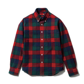 SOPHNET. - THERMOLITE FLANNEL CHECK B.D SHIRT