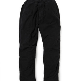 nonnative - DOCTOR EASY PANTS - COTTON FLANNEL OVERDYED