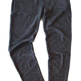 MHL. - PLEATED WOOL RIB PANTS