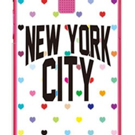 SECOND SKIN - NYC マルチハートドットホワイト (クリア) design by Moisture / for DIGNO R 202K/SoftBank