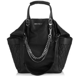 JIMMY CHOO - Jimmy Choo Black biker leather bag