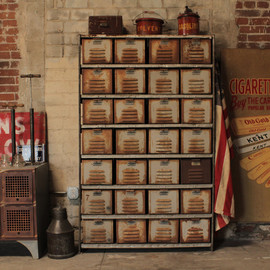 The Mason Dixon - Vintage Industrial Locker Rack