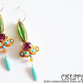 "Ostara - ""D.N.A""14KGF Earrings-004"