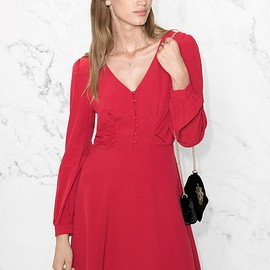 &Other Stories - A-line Dress in Red