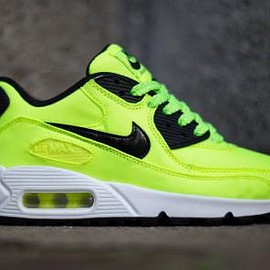 Nike - NIKE AIR MAX 90 FB GS VOLT/BLACK-ELECTRIC GREEN-LIQUID LIME