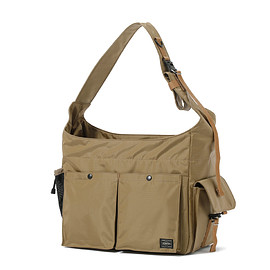 "HEAD PORTER - ""ARNO"" SHOULDER BAG BEIGE"