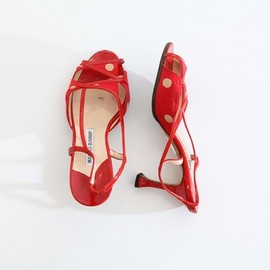 Manolo Blahnik - red sandal