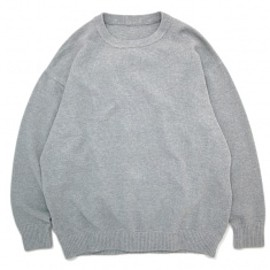 crepuscule - Crewneck Knit moss stitch Grey
