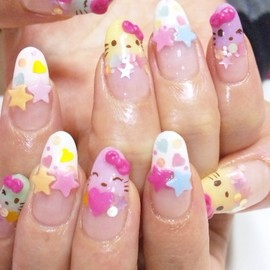 Hello Kitty - Hello Kitty Nail Art Designs by nail art blogger Pinky Nail!